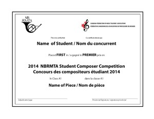2012 Student Composer Certificates_first place_bilingual_Province_NB